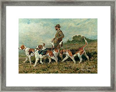 Hunting Exercise Framed Print by John Emms