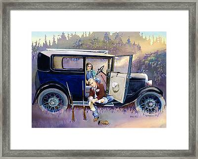 Hunting For Love Framed Print by Mike Hill