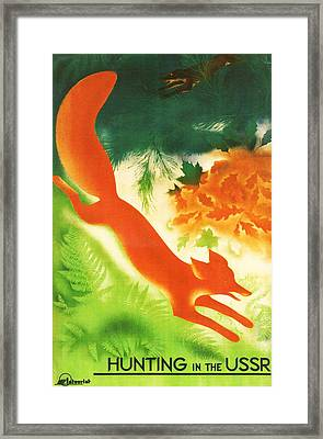 Hunting In The Ussr Framed Print by Georgia Fowler