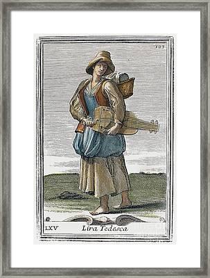 Hurdy Gurdy, 1723 Framed Print by Granger