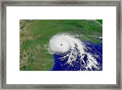 Hurricane Claudette Hits Texas Framed Print by Padre Art