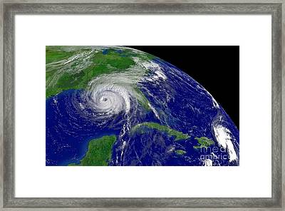 Hurricane Ivan In Gulf Of Mexico Framed Print by Padre Art