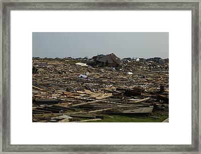 Hurricane Katrina Flattened This Framed Print by Everett