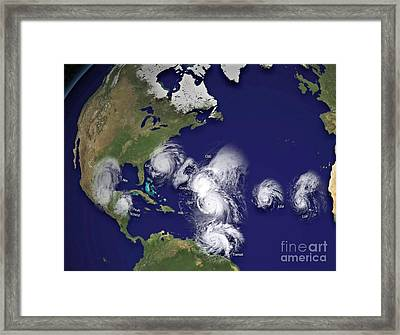 Hurricanes In 2010 Framed Print by Padre Art
