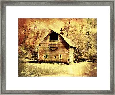 Hwy 20 Barn Framed Print by Julie Hamilton