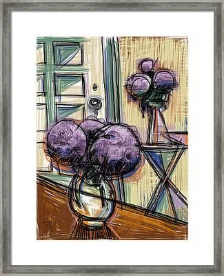 Hydrangeas Galore Framed Print by Russell Pierce