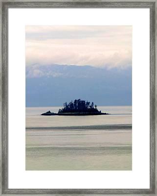 I Am A Rock I Am An Island Framed Print by Mindy Newman