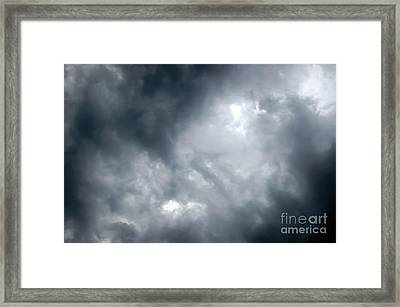 I Am No Storm Chaser Cloud Framed Print by Andee Design