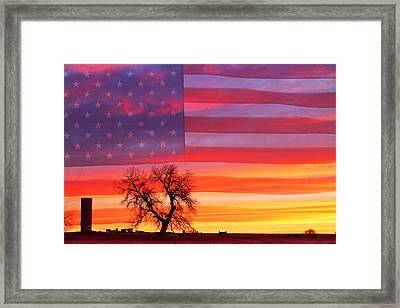 I Am Thankful To Be An American Framed Print by James BO  Insogna