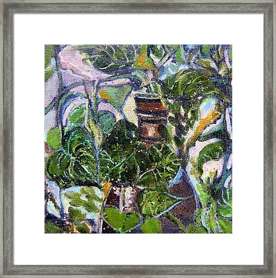 I Am The Vine Framed Print by Mindy Newman