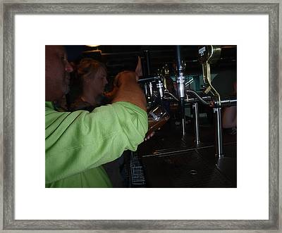I Barry R Jones Jr Will Now Be The Poster Boy For Jeffery Johnson  Regional Pools  Regional Stucco Framed Print by Barry R Jones Jr