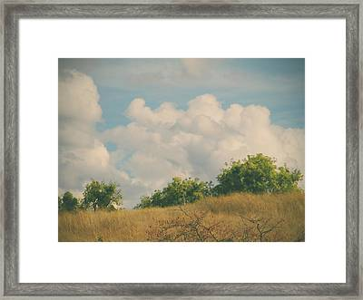 I Exhale And Tell Myself To Smile Framed Print by Laurie Search