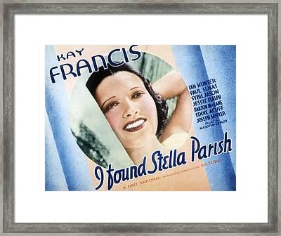 I Found Stella Parish, Kay Francis, 1935 Framed Print by Everett