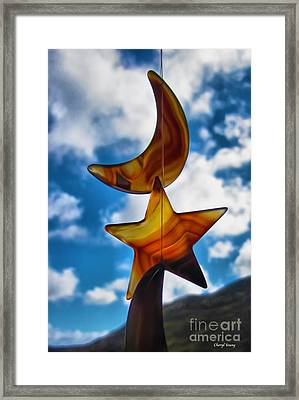 I Give You The Moon And Stars Framed Print by Cheryl Young
