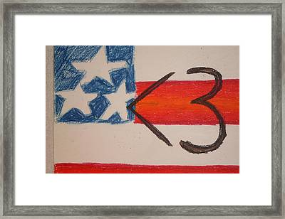 I Hart America Framed Print by Genoa Chanel