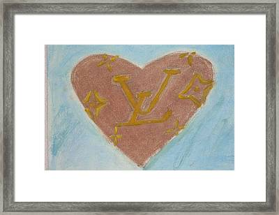 I Left My Hart At Louis Vuitton Framed Print by Genoa Chanel