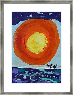 I Like A Full Sun Framed Print by Mary Carol Williams