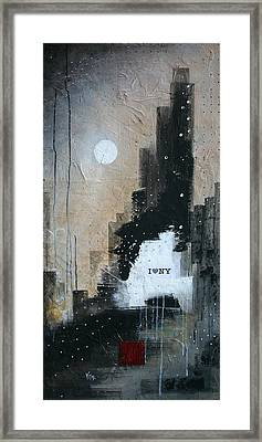 I Love Ny Framed Print by Vital Germaine