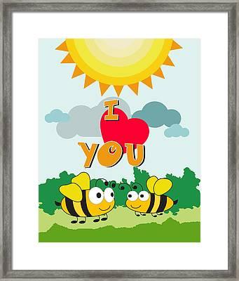 I Love You Framed Print by Baker  Alhashki