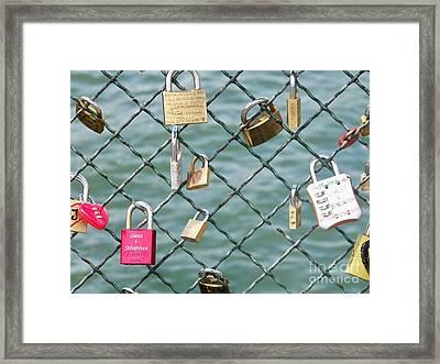 I Love You Paris Framed Print by Francoise Leandre