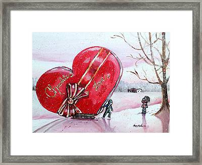 I Love You Thiiis Much Framed Print by Shana Rowe Jackson