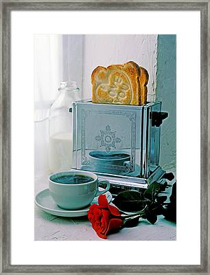 I Love You Toast Framed Print by Garry Gay