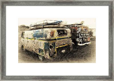 I May Be Slow Framed Print by Ron Regalado