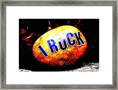 I Rock Inspirational Juvenile Licensing Framed Print by Anahi DeCanio