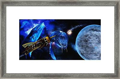 I Think Something Is Out There Framed Print by Shere Crossman