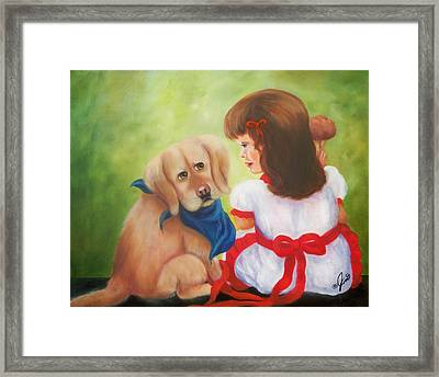 I Thought I Was Your Best Friend Framed Print by Joni McPherson