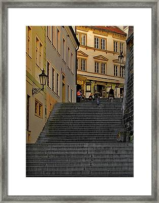 I Walked The Streets Of Prague Framed Print by Christine Till