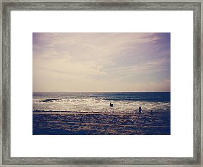 I Want To Swim In The Ocean With You Framed Print by Laurie Search