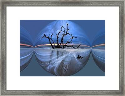 I Would Go To The Ends Of The Earth For You Framed Print by Debra and Dave Vanderlaan