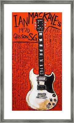 Ian Mackaye 1970 Gibson Sg Framed Print by Karl Haglund