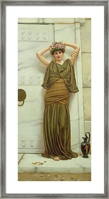 Ianthe Framed Print by John William Godward