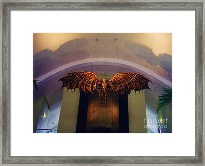 Icarus In The Louis Armstrong International Airport In New Orleans Framed Print by John Malone