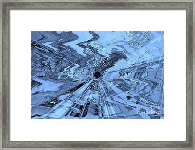 Ice Blue - Abstract Art Framed Print by Carol Groenen
