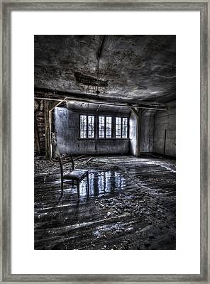Ice Chair Framed Print by Nathan Wright