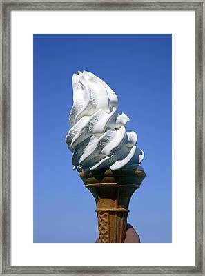 Ice Cream Cornet Framed Print by Victor De Schwanberg
