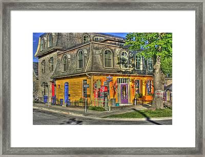 Ice Cream Shop Framed Print by David  Hubbs