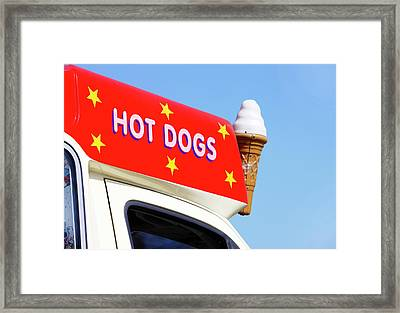 Ice Cream Van Framed Print by Richard Newstead