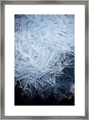 Ice Crystal Patterns Framed Print by Skye Hohmann