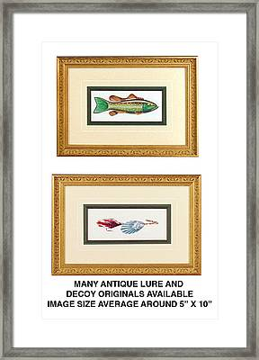 Ice Fishing Decoys Framed Print by JQ Licensing