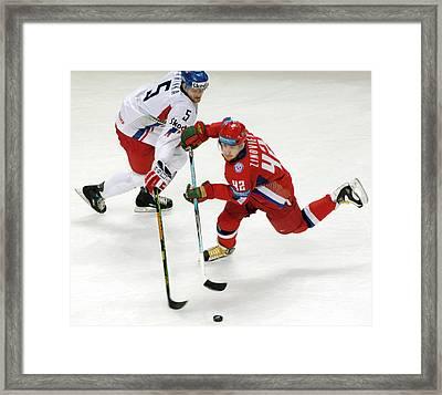 Ice Hockey Framed Print by Ria Novosti