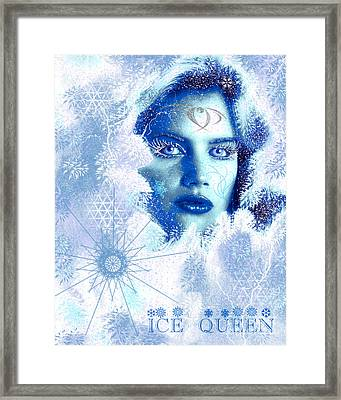 Ice Queen Framed Print by Methune Hively