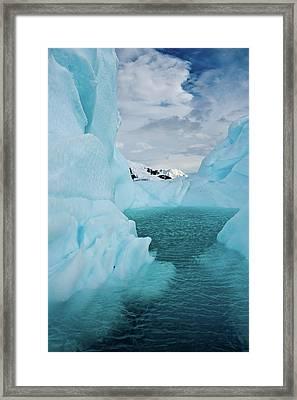 Iceberg Lagoon Framed Print by Duane Miller