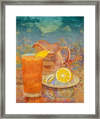 Iced Tea Framed Print by Mary Ogle