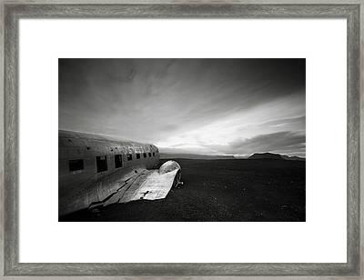 Iceland Dc-3 Framed Print by Nina Papiorek