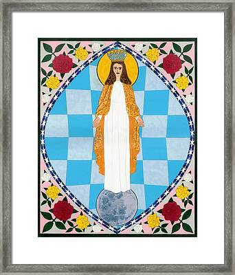 Icon Of The Immaculate Conception Framed Print by David Raber