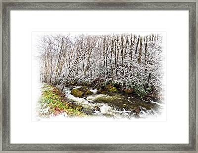 Icy Landscape Framed Print by Debra and Dave Vanderlaan